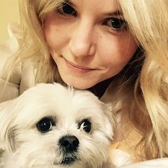 Jennifer Morrison - What would I do without little Ava the dog. Best medicine for a soar throat... Ava cuddles and LA sunshine.