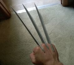 20 diy superhero costume ideas become a homemade vigilante diy this diy wolverine claws tutorial will have you snikt ing in no time pronofoot35fo Gallery