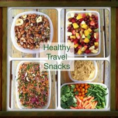 Don't drive yourself crazy trying to find healthy options at the airport. Go prepared with your own healthy travel snacks. #healthysnacks #travelfood