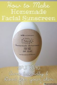 How to Make Homemade Facial Sunscreen (Acne Friendly and Good for your Skin)