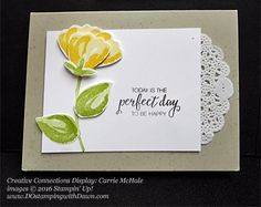 Today I'm sharing some awesome samples that were created using the Blossom Builder Punch. These samples were shared at the Creative Connections local event I attended in July...made by Carrie McHale