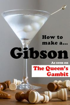 If you watched the The Queen's Gambit, you need to drink a Gibson for the full experience. Learn how to make a the classic cocktail at home in just five minutes.   classic cocktail   gibson cocktail recipe   gibson recipe   gin cocktail   martini   the queens gambit