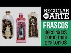 Vida com Arte   Oratório de Nossa Senhora Aparecida por Mamiko Yamashita - 09 de Outubro de 2015 - YouTube Tapas, Mini, Decoupage, Perfume Bottles, Pets, Youtube, Blog, Cover, Frame