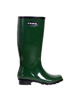 Roma BootsRoma Boots Glossy Hunter Green Rain Boots
