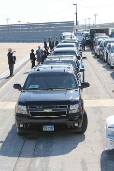 A gigantic fleet of cars lines up.
