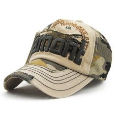 2981eddf16133 Letter Embroidery Camouflage Pattern Summer Outdoor Baseball Hat For Men