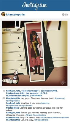 the new Ms. Marvel ...  Kamala Khan, the daughter of Pakistani immigrants living in New Jersey