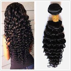Hair Bundle Deep Wave Hair Weft Malaysian Virgin Human Curly Hair Extension 100g
