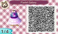 Pastel galaxy QR/Animal crossing