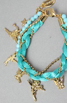 Disney Couture  Tinkerbell Bead Bracelet <3