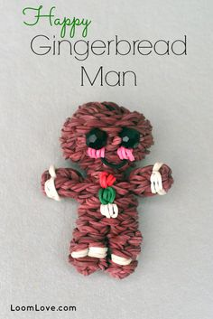 How to Make a Rainbow Loom Happy Gingerbread Man