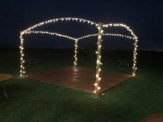 Dance floor outside. DIY. Dance floor with lights.