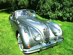 1955 Jaguar XK140   One of my ALL time favorites. Elegant lines, and the car looks like it's doing 70 mph standing still.