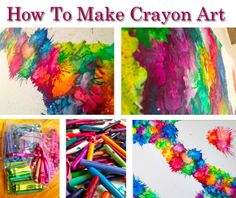 The 11 Best Melted Crayon Art Ideas Cute Crafts, Diy And Crafts, Crafts For Kids, Arts And Crafts, Making Crayons, Crayon Crafts, Wow Art, Art Plastique, Elementary Art