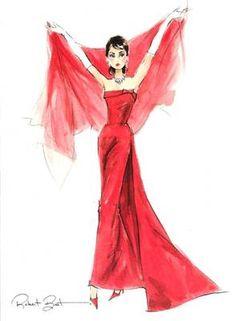 "Robert Best ""Audrey Hepburn"" fashion print"