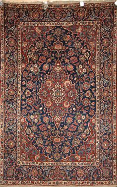 Handmade Kashan Rug (Ref: 994) by Little-Persia. Fine. 81 to 100 years old.