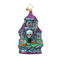 RADKO SPOOKY ENTRANCE Skull Haunted Castle Glass Ornament Halloween Christopher Radko http://www.amazon.com/dp/B00U51BISW/ref=cm_sw_r_pi_dp_Mn29ub0G42PY6