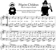 Pilgrim Children: Science Song Lyrics and Sound Clip Thanksgiving Songs, Sound Clips, Kids Songs, Pilgrim, Song Lyrics, School Ideas, Sheet Music, November, The Unit
