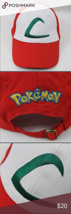 New Pokémon League hat -brand new! -NWOT -adjustable strap -perfect for Pokémon fans and aspiring Pokémon trainers! Pokemon Accessories Hats