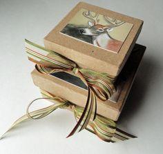 Gift Box , Jewelry Box , Nesting Boxes , Gift Wrap , Rustic Box , Deer Box #bestofEtsy #gifts
