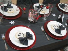 Nightmare Before Christmas Themed Party - Could do in a snowman look for another winter party
