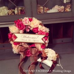 -Tuesday Post- Welcome Wreath Wedding Signs, Wedding Table, Welcome Wreath, Spring Wreaths, How To Preserve Flowers, Wreath Crafts, Weeding, Dried Flowers, Crafts To Make