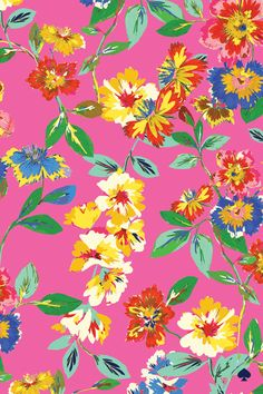 Kate Spade - Bold Blooms - Mobile Background
