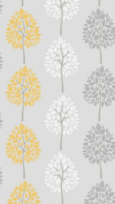 This Alder Tree x Wallpaper Roll is perfect for a modern home. Leaves of yellow, and pop against the shimmering background. This wallpaper roll is a non-paste, paper wallpaper. Mustard And Grey Wallpaper, Tree Wallpaper Grey, Feature Wallpaper, Botanical Wallpaper, Glitter Wallpaper, Paper Wallpaper, Wallpaper Samples, Geometric Wallpaper, Love Wallpaper