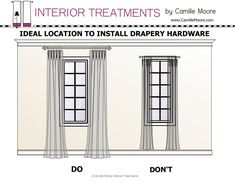 Where to Install Drapery Hardware.
