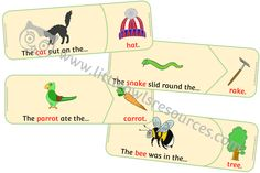 FREE Rhyming Sentences Puzzle printable Early Years/EY (EYFS) resource/download — Little Owls Resources - FREE Eyfs Activities, Literacy Games, Sequencing Activities, Nursery Practitioner, Early Years Teacher, Hickory Dickory Dock, Rhyming Words, Visual Aids, Language Development