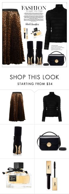 """Back to Basics: Black Booties"" by amchavesj-1 ❤ liked on Polyvore featuring Christopher Kane, Valentino, Paul Andrew, Marni, Gucci, Yves Saint Laurent and blackbooties"