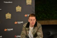 Macklemore post-performance at PAID DUES 2013 / Photo Credit: Moises Pedraza