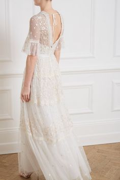 Midsummer Lace Gown in Ivory from Needle & Thread's New Season Collection. Midsummer Lace Gown in Iv Pretty Dresses, Beautiful Dresses, Lace Dresses, Wedding Attire For Women, Pageant Dresses, Club Dresses, Summer Dress Outfits, Vintage Inspired Dresses, Dresses Online