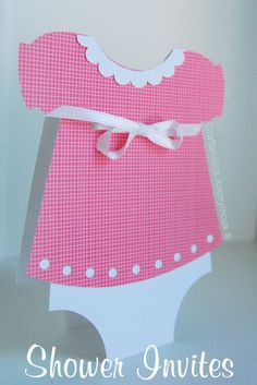Happy Monday, Crafters! I'm throwing a baby shower for my friend, Jen who is having a baby girl in a few short weeks. I just finished the announcements for the party and they turned out so stinkin' cute! The theme is diapers and bows and this is what