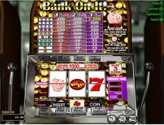 Bank on it slot machine review: http://www.24hr-onlinecasinos.com/casino-games/slots-machines/bank-on-it-slots-game-rtg/