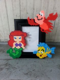 The Little Mermaid Picture Frame perler beads by BurritoPrincess