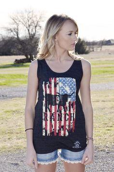 5171eb234240 B Ranch American Flag Tank Top