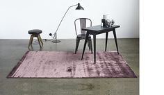 Bamboo rug, plum colour, by Massimo.