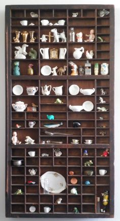 My grandmother's miniatures cabinet, passed on to me.