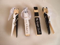 Kissing clothespin wedding couples for the centerpieces at Wedding Crafts, Wedding Favours, Diy Wedding, Wedding Decorations, Wedding Ideas, Wedding Cards Handmade, Clothes Pegs, Diy Birthday, Wedding Couples