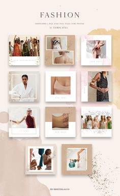 The Creative's Vibrant Artistic Collection - Design Cuts Layout Do Instagram, Instagram Collage, Instagram Grid, Instagram Post Template, Instagram Design, Instagram Posts, Social Media Template, Social Media Design, Web Design