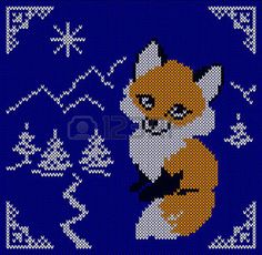 Knitting Stitches, Baby Knitting, Granny Square Projects, Pixel Crochet, Cross Stitch Animals, Beaded Animals, Tapestry Crochet, Plastic Canvas Patterns, Christmas Cross