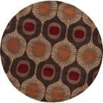 Pulsu Sienna 9 ft. 9 in. x 9 ft. 9 in. Round Area Rug