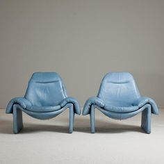 Talisman A Pair of Introini designed for Saporiti Armchairs 1970s -