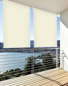 Auf und ab: Bakonrollo von Casa Vivendi #sichtschutz #balkon #balkonideen