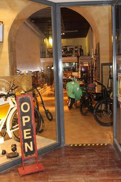 The entrance of our e-bike shop and repair that you can find in Palma city centre! #mallorca #ebikes #future