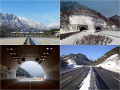#Misiryeong Tunnel, Gangwon Province, Korea - The Misiryeong Tunnel opened in 2006 running from Inje to Sokcho under the Misiryeong Ridge, Taebaek Mountains. It was the second longest road vehicle tunnel in Korea at that time. It is a twin bore tunnel of 3.69km in length and is part of the Misiryeong Penetrating Road. | 미시령터널