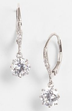 Nordstrom Cubic Zirconia Drop Earrings (Special Purchase) available at #Nordstrom