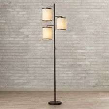 "74"" 3 Light Floor Lamp"