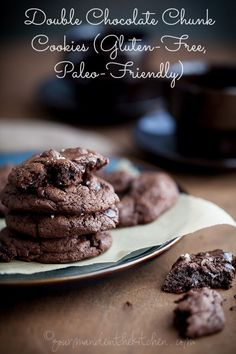 Deep, dark and rich, these double chocolate cookies are for true